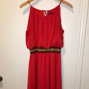 Enfocus Flowy Red Maxi Dress